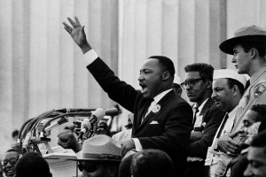 Martin Luther King, Jr Delivering His Speech